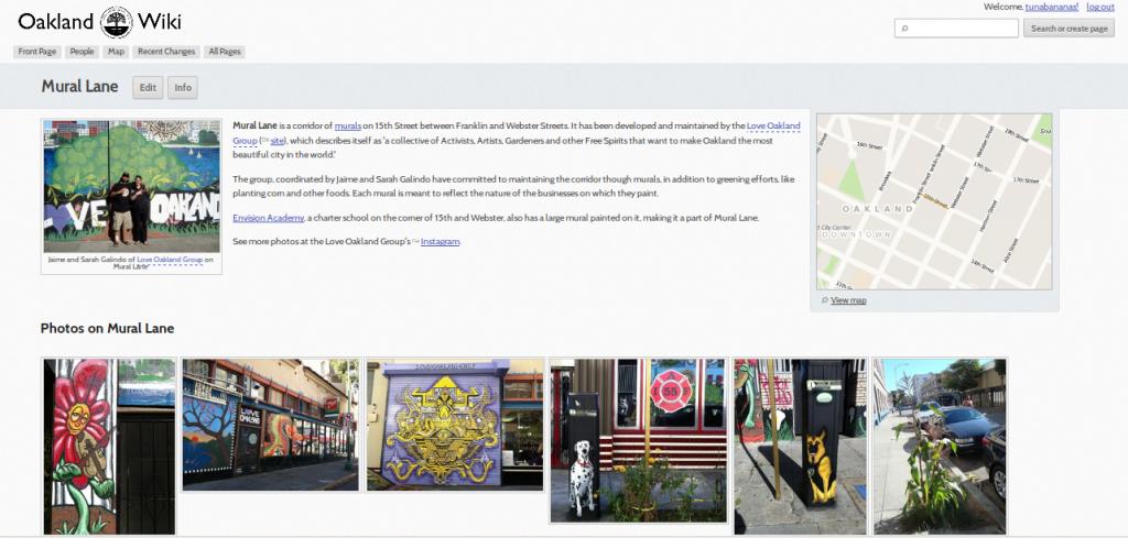Oakland Wiki: Mural Lane
